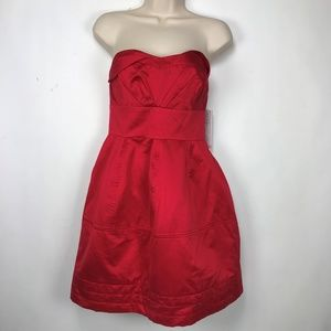 Zac Posen for Target Red Strapless Dress  9 NWT